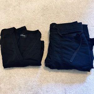 Black scrubs set